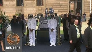 Mandela's body lies in state in Pretoria